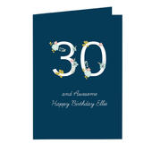 Personalised Floral Age Birthday Card Add Any Age & Name - Personalise It!