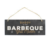 """Personalised """"""""Barbeque Grill Master"""""""" Printed Hanging Slate Plaque - Personalise It!"""
