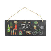 Personalised Garden Printed Hanging Slate Plaque - Personalise It!