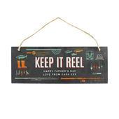 """Personalised """"""""Keep It Reel"""""""" Printed Hanging Slate Plaque - Personalise It!"""