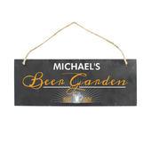 "Personalised """"Beer Garden"""" Printed Hanging Slate Plaque - Personalise It!"