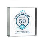 Personalised Birthday Large Crystal Token - Personalise It!