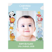 Personalised Baby Animals 6x4 Wooden Photo Frame - Personalise It!