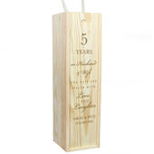 Personalised Anniversary Wooden Wine Bottle Box - Personalise It!