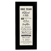 Personalised 1st Anniversary Letterbox Frame - Personalise It!