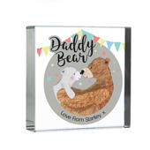 Personalised Daddy Bear Crystal Token - Personalise It!