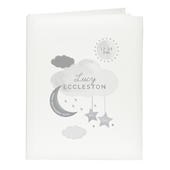 Personalised New Baby Moon & Stars Album with Sleeves - Personalise It!