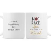 Personalised No.1 Race Fan Mug - Personalise It!