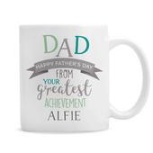 Personalised 'Dad's Greatest Achievement' Mug - Personalise It!