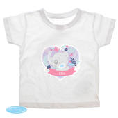 Personalised Tiny Tatty Teddy Girl's T-shirt 3-4 Years - Personalise It!