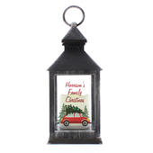 Personalised 'Driving Home For Christmas' Rustic Black Lantern - Personalise It!