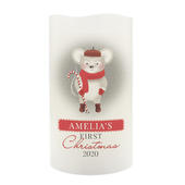 Personalised '1st Christmas' Mouse Nightlight LED Candle - Personalise It!