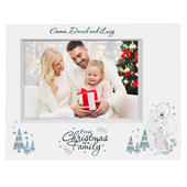 Personalised Polar Bear '1st Christmas As A Family' 7x5 Box Photo Frame - Personalise It!