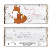 Personalised Mummy and Me Fox Chocolate Bar - Personalise It!