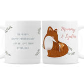 Personalised Mummy and Me Fox Mug - Personalise It!