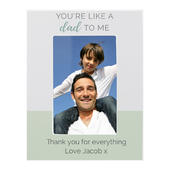 """Personalised """"""""You're Like a Dad to Me"""""""" 6x4 Wooden Photo Frame - Personalise It!"""