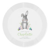 Personalised Easter Bunny Plastic Plate - Personalise It!