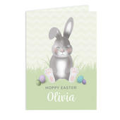 Personalised Easter Bunny Card Add Any Name - Personalise It!