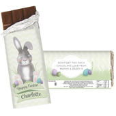 Personalised Easter Bunny Chocolate Bar - Personalise It!