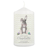 Personalised Easter Bunny Pillar Candle - Personalise It!