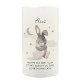 Personalised Baby Bunny LED Candle - Personalise It!