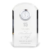 Personalised Anniversary Crystal Clock - Personalise It!