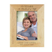 Personalised Anniversary 7x5 Wooden Photo Frame - Personalise It!