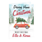 Personalised 'Driving Home For Christmas'' Card Add Any Name - Personalise It!