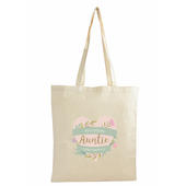 Personalised Floral Heart Mothers Day Cotton Bag - Personalise It!