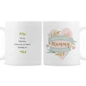 Personalised Floral Heart Mothers Day Mug - Personalise It!