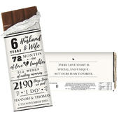 Personalised 6th Anniversary Milk Chocolate Bar - Personalise It!