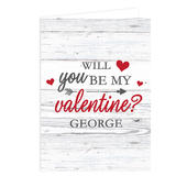Personalised Be My Valentine Card Add Any Name - Personalise It!