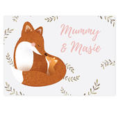 Personalised Mummy and Me Fox Card Add Any Name - Personalise It!