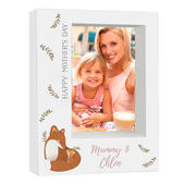 Personalised Mummy and Me Fox 5x7 Box Photo Frame - Personalise It!