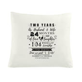 Personalised 2nd Anniversary Cushion Cover - Personalise It!
