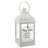 Personalised Elegant Diamond White Lantern - Personalise It!