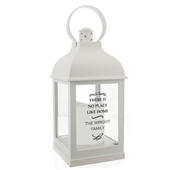 Personalised Antique Scroll White Lantern - Personalise It!