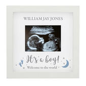 Personalised 'It's A Boy' Baby Scan Frame - Personalise It!