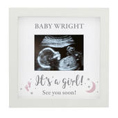 Personalised 'It's A Girl' Baby Scan Frame - Personalise It!