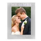 Personalised Mr & Mrs 5x7 Silver Photo Frame - Personalise It!