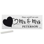 Personalised Rustic Chalk Countdown Wooden Block Sign - Personalise It!
