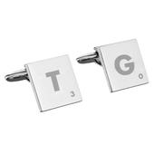 Personalised Initials and Age Square Cufflinks - Personalise It!