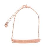 Personalised Rose Gold Tone Bar Bracelet - Personalise It!