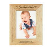 Personalised Godmother 5x7 Wooden Photo Frame - Personalise It!