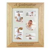 Personalised Godmother 8x10 Wooden Photo Frame - Personalise It!