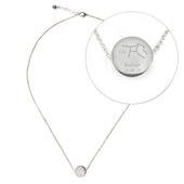 Personalised Virgo Zodiac Star Sign Silver Tone Necklace (August 23rd - September 22nd) - Personalise It!