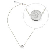 Personalised Gemini Zodiac Star Sign Silver Tone Necklace (May 21st - June 20th) - Personalise It!