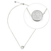 Personalised Libra Zodiac Star Sign Silver Tone Necklace (September 23rd - October 22nd) - Personalise It!