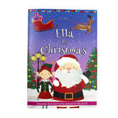 """Personalised Girls """"""""It's Christmas"""""""" Story Book, Featuring Santa and his Elf Twinkles - Personalise It!"""