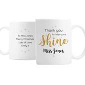 Personalised Shine Teacher Mug - Personalise It!